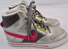 Nike Delta Force Womens High Top Tennis Shoes Size 6.5 Silver Green Pink