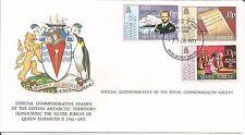 Territorio antartico britannico del Giubileo d'argento di pipistrello Commonwealth Society 1977 Copertina