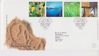 GB ROYAL MAIL FDC FIRST DAY COVER 2000 PEOPLE & PLACE STAMP SET GATESHEAD PMK