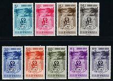 Venezuela 1952 Wappen Sucre Palmen Meersalz 811-19 Postfrisch MNH M€ 95