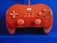 wii CLASSIC CONTROLLER Official RED PRO Nintendo PAL EXCLUSIVE