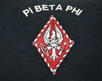 Pi Beta Phi Navy Pillow Embroidery Logo White Piping New Without Tags
