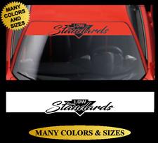 Low Standards Cut Out Sun Visor Windshield Banner Vinyl Decal Sticker Strip