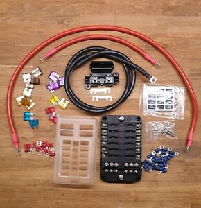 12v Camper van 12 Blade Fuse Box 1m Cable Kit
