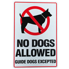 WARNGING SIGN NO DOG ALLOWED Guide Except 200x300mm Metal CLEAR ZONE GoodQuality