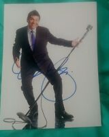 GEORGE LOPEZ SIGNED 8X10 PHOTO COMEDIAN MICROPHONE W/COA+PROOF RARE WOW
