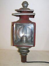 umgebaute alte Kutscherlampe auf 220 V