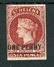 St Helena 1863 1d lake (type A) SG3 fine MM 4 margins cat £150