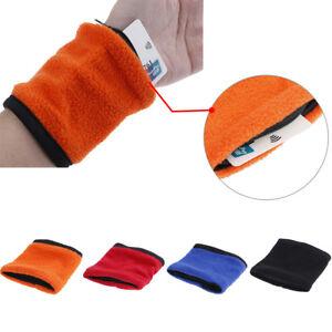 Wrist Gym Sweat Bands Wallet Pouch Arm Bag Key Card Storage Cas With Zipper _UK