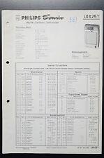 Philips l0x25t ORIGINAL MANUAL DE SERVICIO/MANUAL/ESQUEMA conexiones o35