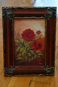 Framed Red Roses Limited Edition Art Print Signed and Numbered