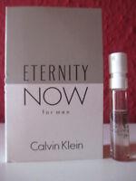 Calvin Klein ~ ETERNITY NOW for men ~ Eau de Toilette Parfum Probe NEU/OVP