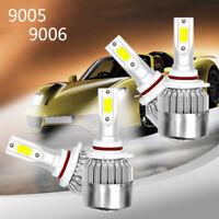 4 Bulbs Kit C9 9005 6000K LED 3600W 540000LM Combo Set Headlight High Low Beam