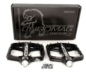 "Chromag Dagga Mountain Bike Platform Pedals 9/16"" Black"