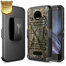 For Moto Z Play Droid NageBee® Rugged Armor Shockproof Holster Case Cover