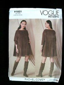 NEW VOGUE SEWING PATTERN V1821 MISSES DRESS Sz. XS-XXL BY RACHEL COMEY UNCUT