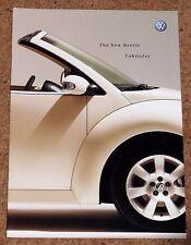 2003 VW BEETLE CABRIOLET UK Launch Sales Brochure - 1.4 1.6 2.0 1.9TDI Excellent