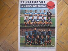 INTER BRESCIA IL GIORNO DOMENICA 5/3/1967 CALCIO SQUADRE COLORE