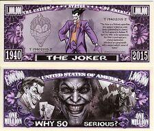 The Joker Million Dollar Novelty Money