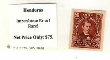 HONDURAS 1907 IMPERFORATED ERROR (SCARCE) MINT- NO HINGE/ CV $80++