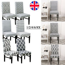 8pcs Stretch Dining Chair Covers Slipcovers Wedding Home Decoration Seat Covers
