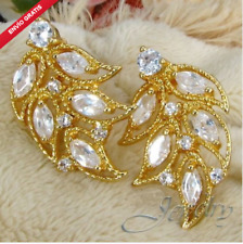 Earrings Beautiful Style Byzantine of Cubic Zirconia White