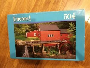 New Factory Sealed Encore! 504 Piece Jigsaw Puzzle, Wewaka Brook Connecticut