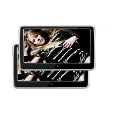 2Pcs TFT LED 10.1 Inch Car Headrest Monitor Screen FM Transmitter IR AV MP5 Game