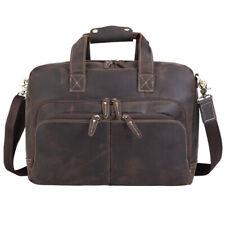 """Men Real Leather Business Briefcase 16"""" Laptop Bag Shoulder Bag Handbag Satchel"""