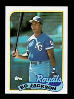1989 TOPPS BO JACKSON CARD #540 ROYALS  BASEBALL SHARP