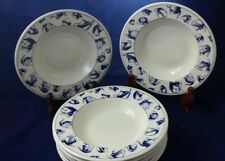 8 Blue Teapot Coffee Pot Soup Cereal Bowls Pier 1 England Tea Cup Saucer Unused?