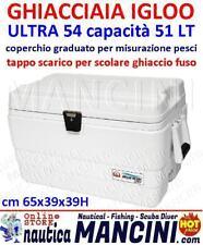 GHIACCIAIA IGLOO MARINE ULTRA 54 QT LITRI 51 VASCA DEL VIVO BARCA GOMMONE CAMPER