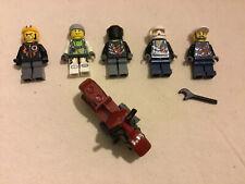 Lego Harley Davidson Motorcycle Bike Dark red minifigure Indiana Jones W/ Racers