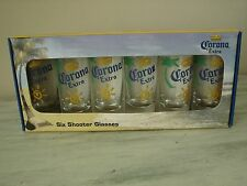 CORONA EXTRA  SIX  SHOOTER  GLASSES  NEW IN BOX