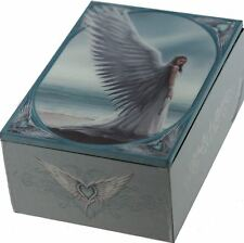 Spirit Guide White Grey Angel Tarot Box Card Holder Wicca Pagan New Age