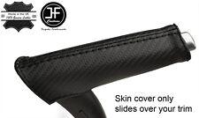 Puntada de Fibra de Carbono Vinilo de freno de mano negra cubierta de la manija se ajusta Audi A3 8P 04-12