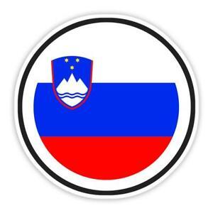 Gift Sticker : Slovenia Flag Never Underestimate The Power Slovenian Expat