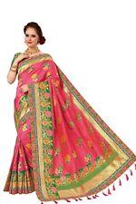 Sari Indian Ethnic Silk Heavy Dori Embroidery work Saree for Wedding wear (K786)