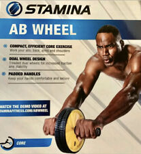 Stamina Ab Wheel Roller Exercise Crunch Workout Fitness Training Core Fast Ship