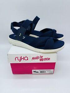 Ryka Women's Mallorie Adjustable Back-Strap Sport Sandals - Navy Blazer US 10W