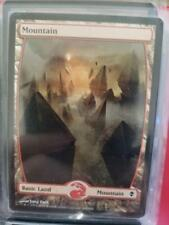 1X mtg NM Mountain (243) - Full Art Zendikar