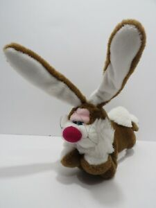 """Applause Telly Bunny Rabbit Laying Down Paws Under Chin 14"""" Long Plush 1998"""