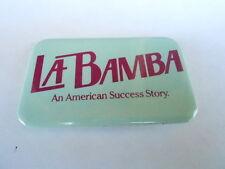 VINTAGE PINBACK BUTTON #81- 162 - MOVIE - LA BAMBA