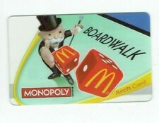 McDonalds Gift Card - Monopoly Man - Dice, Boardwalk, Game - 2009 - No Value