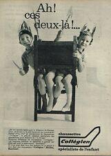 A- Publicité Advertising 1961 Les Chaussettes pour enfants Collegien