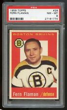 1959 Topps #29 Fern Flaman *Bruins* PSA 8 NM-MT #27161774