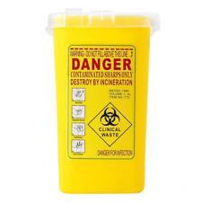 1x Quart Sharp Container Biohazard Needle Disposal Medical Tattoo Waste Bin
