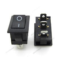 5 x Mini Rectangle Rocker Switch Black Snap-in SPDT ON-OFF 3 Pin 12V 110V 220V