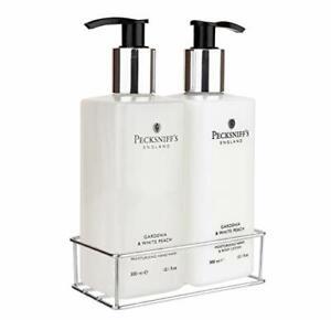 Pecksniff's Gardenia & White Peach Hand Wash and Body Lotion Set, 300ml 10.1oz