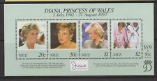 1998 Princess Diana Memorial Stamp Sheet MNH Niue SG MS835